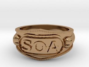 Sons of Anarchy ring in Polished Brass