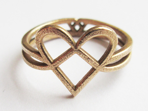 Woven Heart collection: ring in Polished Bronze
