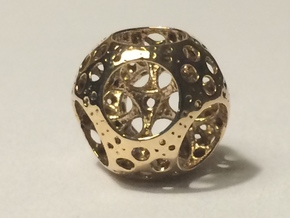 Apollonian Octahedron Supersmall in Polished Bronze