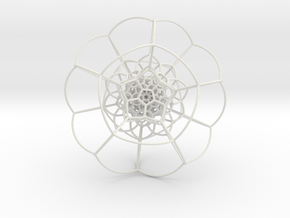 120-Cell on Hypersphere, Stereographic Projection  in White Strong & Flexible