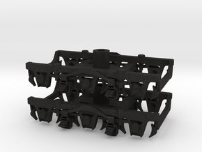 1 pair top-equalized trucks, OSB/PAB (1/160) in Black Acrylic