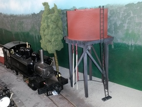 Victorian Railways 16mm scale Gould Water Tank in White Strong & Flexible