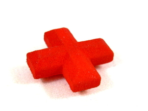 Medical Plus Sign, Heal Token for Flash Point in Red Strong & Flexible Polished