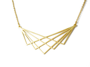 GRID NECKLACE in 18K Gold Plated