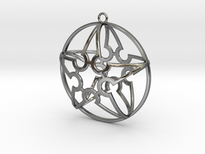 Star Pendent 005 in Polished Silver