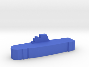 Game Piece, WW2 Yorktown Carrier in Blue Strong & Flexible Polished