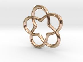 Star Pendant in 14k Rose Gold Plated
