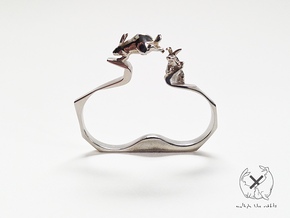 Nº02 Double Rabbit Ring (multiple sizes) in Polished Brass