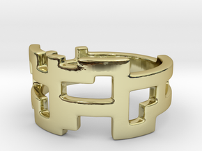Ring Blocks in 18k Gold Plated