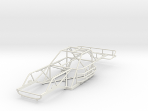 1/24th scale 80's Late Model Chassis  in White Strong & Flexible