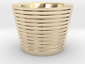 Japanese Sake cup in 14k Gold Plated