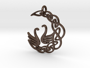 SwanPendant in Polished Bronze Steel