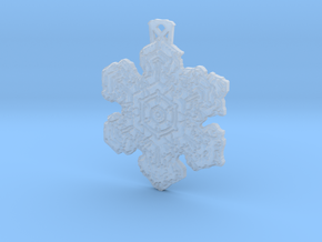 Frozen Star Pendant in Frosted Ultra Detail