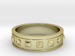 Ring with Studs - Size 5 in 18k Gold Plated