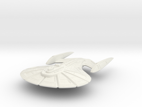 Milner Class Destroyer (Big) in White Strong & Flexible