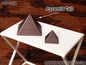 Pyramid Tall in Matte Bronze Steel