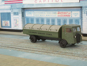 1:43 Dennis 1940s Refuse Carrier in White Strong & Flexible Polished