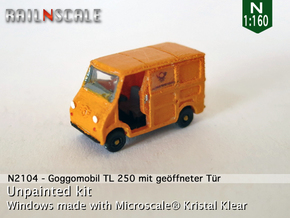 Goggomobil TL w/ opened door (N 1:160) in Frosted Ultra Detail