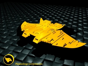 Protectorate Defender MK I, Battlefleet Cruiser in Yellow Strong & Flexible Polished