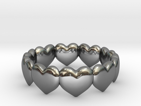 Ring Hearts in Premium Silver