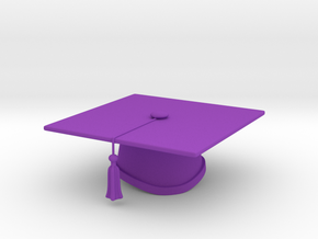 Graduation Cap - One Color in Purple Strong & Flexible Polished