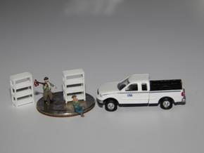 3 N Scale Garage Shelves (3 Sizes) 1 Each in White Strong & Flexible