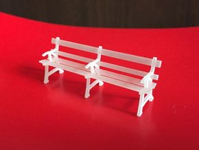 O scale station seats  (x2) in Frosted Ultra Detail