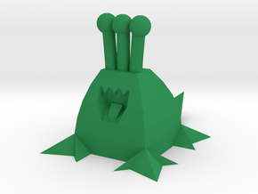 Polygonal Alien (Plain) in Green Strong & Flexible Polished