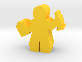 Doctor Meeple, with Clipboard and Needle in Yellow Strong & Flexible Polished