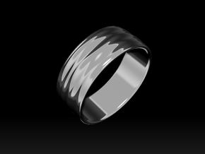 Ripple Ring No.2 in Rhodium Plated