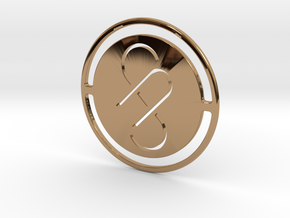 Pendant Monogram AS in Polished Brass