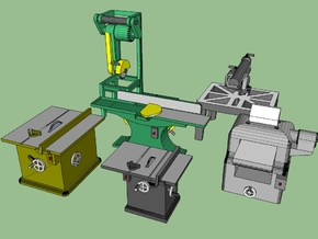 Woodworking Machinery 1-87 in Frosted Ultra Detail