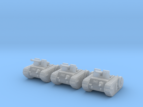 6mm Dieselpunk self-propelled Artillery Mk.C (3) in Frosted Ultra Detail