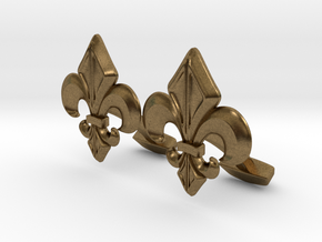 Designer Cufflink in Raw Bronze