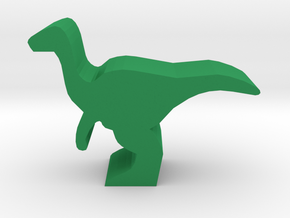 Dino Meeple, Gallimimus in Green Strong & Flexible Polished