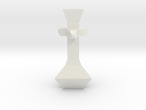 Chess Pawn King in White Strong & Flexible