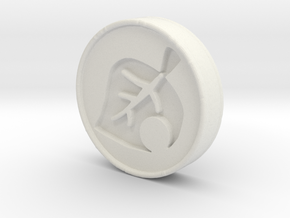 Animal Crossing Leaf Coin in White Strong & Flexible