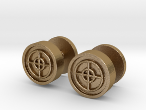 Team Fortress 2 Sniper Cufflinks in Polished Gold Steel