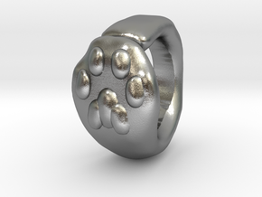 Cat Paw Ring - sc1 (19mm) in Raw Silver