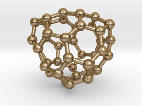 0133 Fullerene C40-27 c2 in Polished Gold Steel