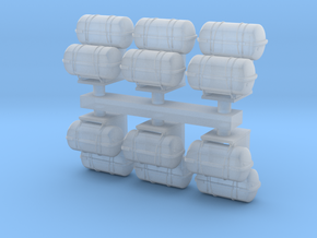 1:72 Life Boat Canister Stacked - Set of 6 in Frosted Ultra Detail