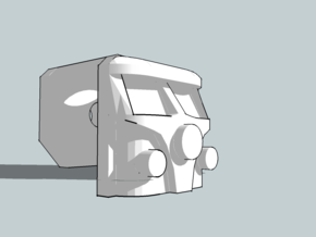 Retrovest: VW Van (Tip Jar Item) in White Strong & Flexible