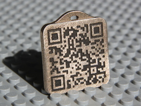 Keychain with Your Own Bitcoin QR code in Stainless Steel