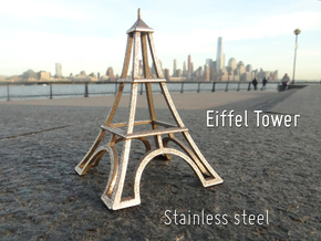 Eiffel Tower Desk Toy in Stainless Steel