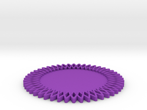 Gear Coaster in Purple Strong & Flexible Polished