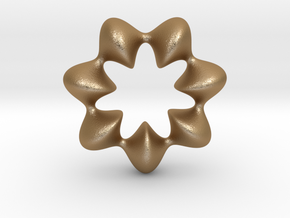 0066 AntisymmetricTorus (p=7.0) #009 in Matte Gold Steel