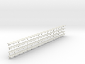 Benchseat X 4 - 4mm in White Strong & Flexible