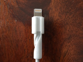Backbone - Lightning Cable Protector in White Strong & Flexible Polished