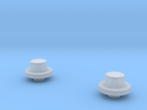 1/64 FWA front Hubs in Frosted Ultra Detail