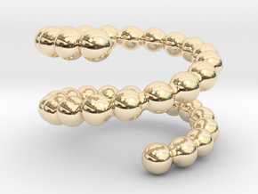 Spiral ring 17 in 14k Gold Plated